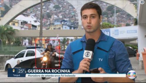 Gato motoqueiro invade reportagem da TV Globo